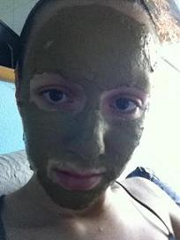 Gesichtsmaske mit Mate bei Teesorte
